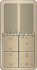 Радиоприемник скрытого монтажа с RDS с динамиком, светлая бронза