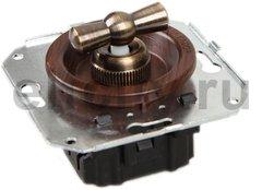 Выключатель поворотный 2-х позиционный для внутреннего монтажа проходной, вишня