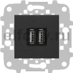 Зарядное USB устройство на два выхода, 2х750 мА / 1х1500 мА, антрацит