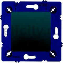 Выключатель одноклавишный, 10 А / 250 В, черный