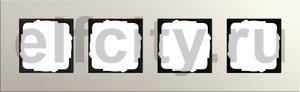 Рамка 4 поста, для горизонтального/вертикального монтажа, светло-серый
