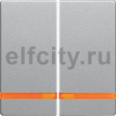 Клавиши с оранжевой линзой, Q.1/Q.3, цвет: алюминиевый, бархатный лак