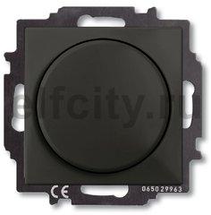 Диммер (светорегулятор) поворотный 60-400 Вт для ламп накаливания и галогенных 220В, шато-черный