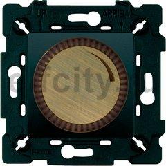 Диммер (светорегулятор) поворотный 40-500 Вт для ламп накаливания и галогенных 220В, бронза матовая/черный