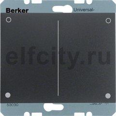 Диммер (светорегулятор) нажимной 20-300 Вт для ламп накаливания и галогенных 220В, пластик антрацит