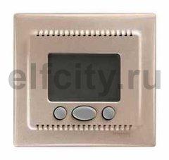 Термостат електронный, с выносным датчиком для электрического подогрева пола 230 В~ 8А, титан