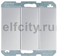 Выключатель трехклавишный, 16 А / 400 В, с винтовыми зажимами, алюминий
