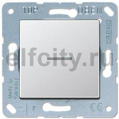 Выключатель одноклавишный с подсветкой, универс. (вкл/выкл с 2-х мест) 10 А / 250 В, пластик под алюминий