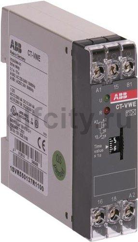 Реле времени CT-VWE (с проскальз. при замык.) 24B AC/DС, 220-240 В AC (временной диапазон 3с..300с.) 1ПК