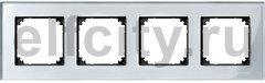 Рамка 4 поста, для горизонтального/ вертикального монтажа, стекло алмаз