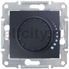 Диммер (светорегулятор) поворотный 60-500 Вт для ламп накаливания и галогенных 220В, графит