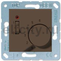 Термостат 230 В~ 10А с выносным датчиком, для электрического подогрева пола, мокко