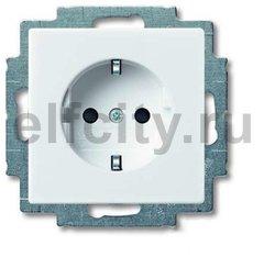 Розетка с заземляющими контактами 16 А / 250 В, автоматические зажимы, альпийский белый