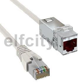 Соединительный кабель C6A S/FTP 15 м (серый)