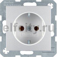 Розетка с заземляющими контактами 16 А / 250 В, автоматические зажимы, пластик под алюминий