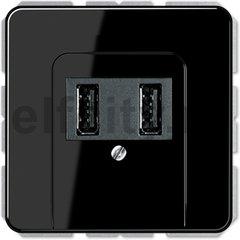 Зарядное USB устройство на два выхода , 2х750 мА / 1х1500 мА, черный
