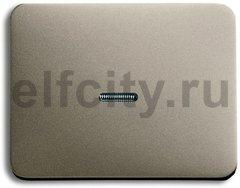 Клавиша для механизма 1-клавишного выключателя/переключателя/кнопки, с прозрачной линзой, серия alpha exclusive, цвет палладий