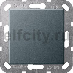 Выключатель одноклавишный перекрестный (вкл/выкл с 3-х мест) 10 А / 250 В, пластик антрацит