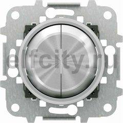 Выключатель двухклавишный, 10 А / 250 В, хром
