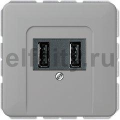 Зарядное USB устройство на два выхода , 2х750 мА / 1х1500 мА, серый