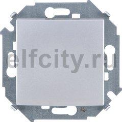 Выключатель одноклавишный, проходной (вкл/выкл с 2-х мест), 10 А / 250 В, алюминий