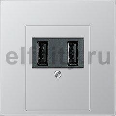 Зарядное USB устройство на два выхода , 2х750 мА / 1х1500 мА, алюминий