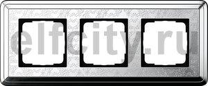 Рамка 3 поста, для горизонтального/вертикального монтажа, хром
