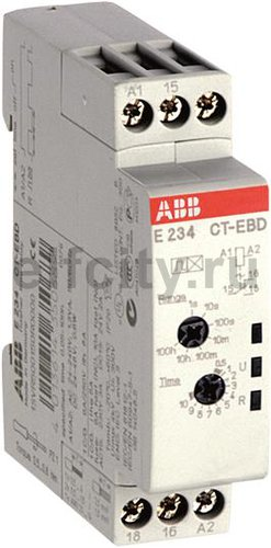 Реле времени CT-EBD.12 модульное (мигание с нач. импульса) 24-48B DC, 24-240B AC (7 временных диапазонов 0,05с...100ч) 1ПК
