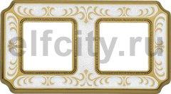 Рамка 2 поста, для горизонтального/ вертикального монтажа, жемчужно-белый