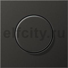 Диммер (светорегулятор) поворотный 60-600 Вт для ламп накаливания 220В, пластик антрацит