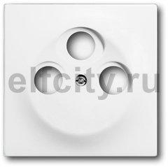 Накладка (центральная плата) для TV-R-SAT розетки, серия impuls, цвет белый бархат