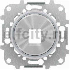 Накладка для 1-го суппорта/разъёма типа 2017... или 2018..., со стальным суппортом, серия SKY Moon, кольцо хром