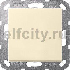 Выключатель одноклавишный перекрестный (вкл/выкл с 3-х мест) 10 А / 250 В, пластик кремовый глянцевый
