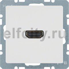 Розетка HDMI, полярная белизна, с эффектом бархата.