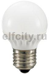 Civilight светодиодная лампа шар G60, 3 Вт, 220В, Е27, 250Lm, 2700К (теплый), мат.стекло