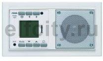 Радиоприемник, запоминает 6-ть FM станций, со встроенным МР-плеером для микро SD, компектуется ИК пультом и рамкой, алюминий