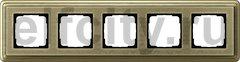 Рамка 5 постов, для горизонтального/вертикального монтажа, бронза