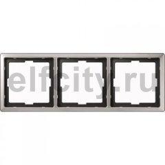 Рамка 3 поста, для горизонтального/ вертикального монтажа, нержавеющая сталь