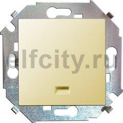 Выключатель одноклавишный, с подсветкой, 10 А / 250 В, слоновая кость