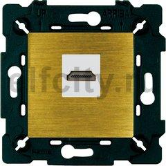 Розетка HDMI, бронза светлая/бежевый