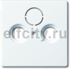 Накладка (центральная плата) для TV-R-SAT розетки, серия solo/future, цвет davos/альпийский белый