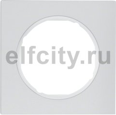 Рамка 1 пост, алюминий, полярная белизна