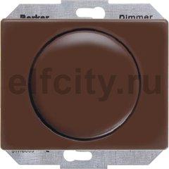 Диммер (светорегулятор) поворотный 60-400 Вт для ламп накаливания и галогенных 220В, пластик коричневый глянцевый