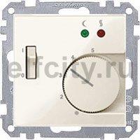 Термостат 230 В~ 8А с выносным датчиком, для электрического подогрева пола, пластик кремовый глянцевый