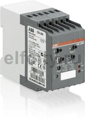 Реле контроля нагрузки двигателя (cosФ) CM-LWN 2-20А, питание 38 0-440В АС, 2ПК