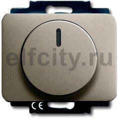 Диммер (светорегулятор) поворотный 200-1000 Вт для ламп накаливания и галогенных 220В, палладий