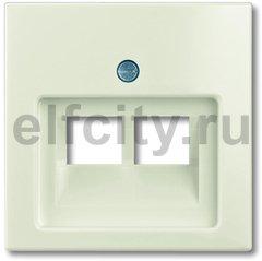 Плата центральная (накладка) для 2-постовой телекоммуникационной розетки 0214, 0215, 0217, 0218, с полем для надписи, серия Basic 55 цвет chalet-white