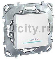 Диммер (светорегулятор) клавишный универсальный 20-350 Вт для ламп накаливания и низковольтных галогенных ламп, пластик белый
