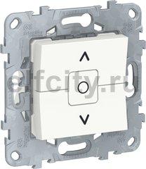 UNICA NEW выключатель для жалюзи, 2-клавишный, сх. 4, белый
