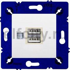 Зарядное устройство USB с двумя выходами, для серии Marco, белый